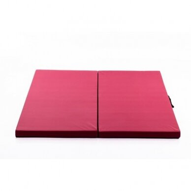Kokkupandav spordimatt 116x116X5cm RED WINE