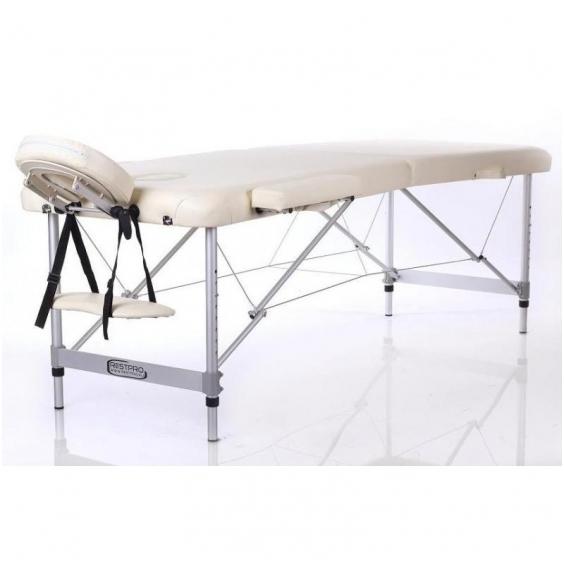 Sulankstomas masažo stalas ALU M2 (Cream)