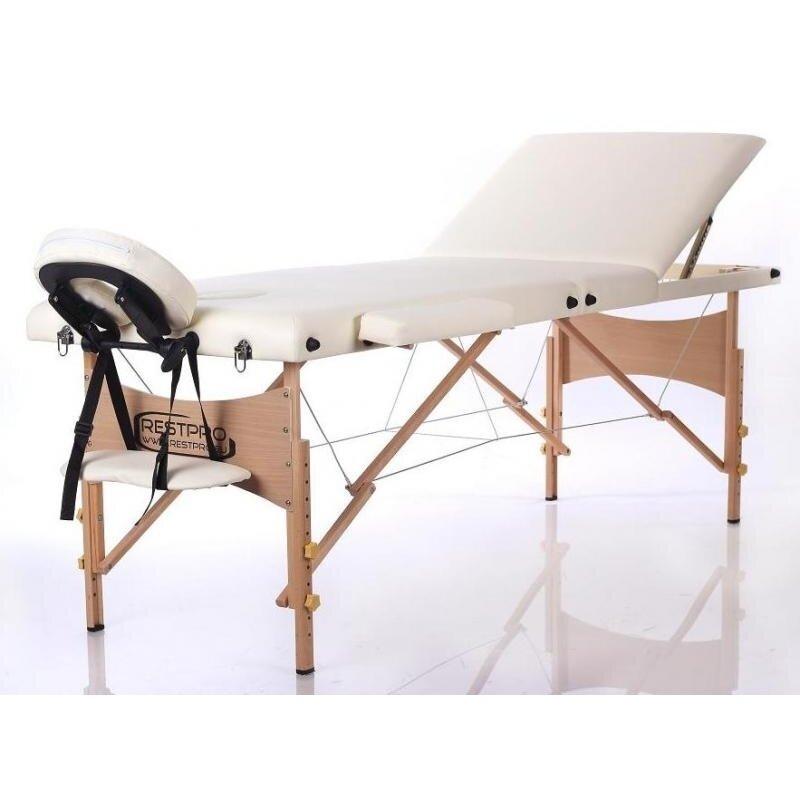 Sulankstomas masažo stalas Classic 3 (Cream)