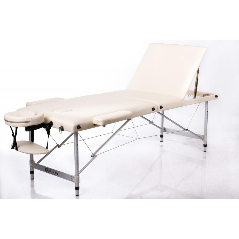 Sulankstomas masažo stalas ALU 3 (Cream)