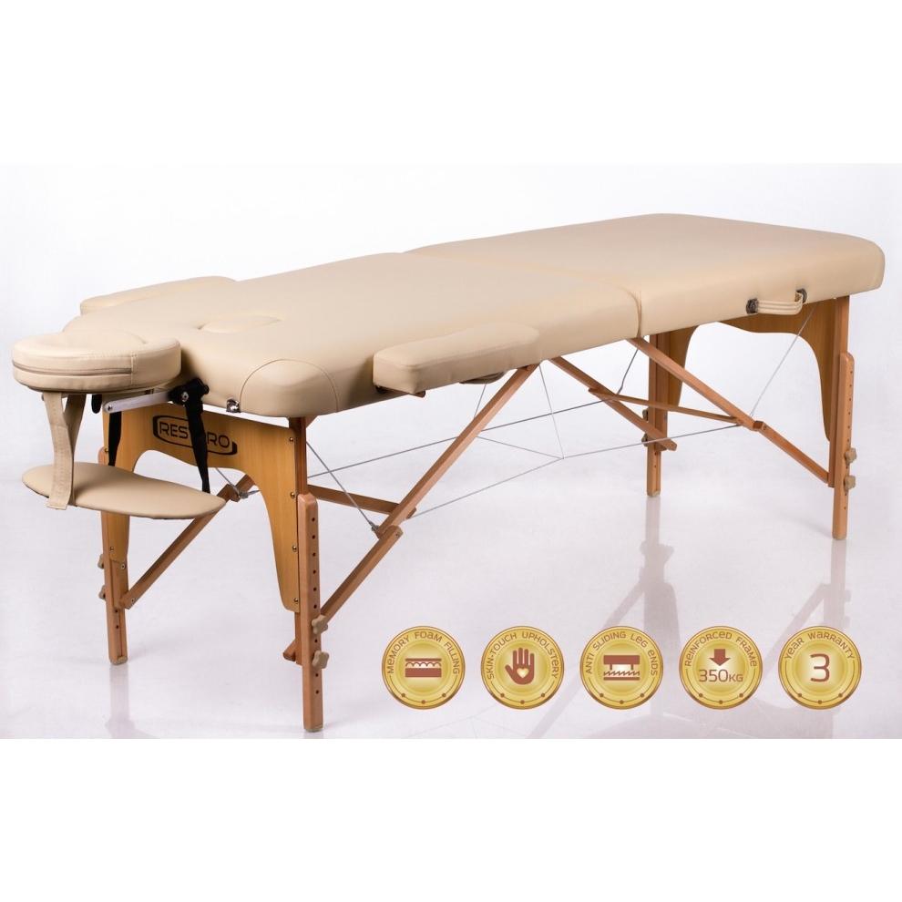 Sulankstomas masažo stalas Memory 2 (Beige)