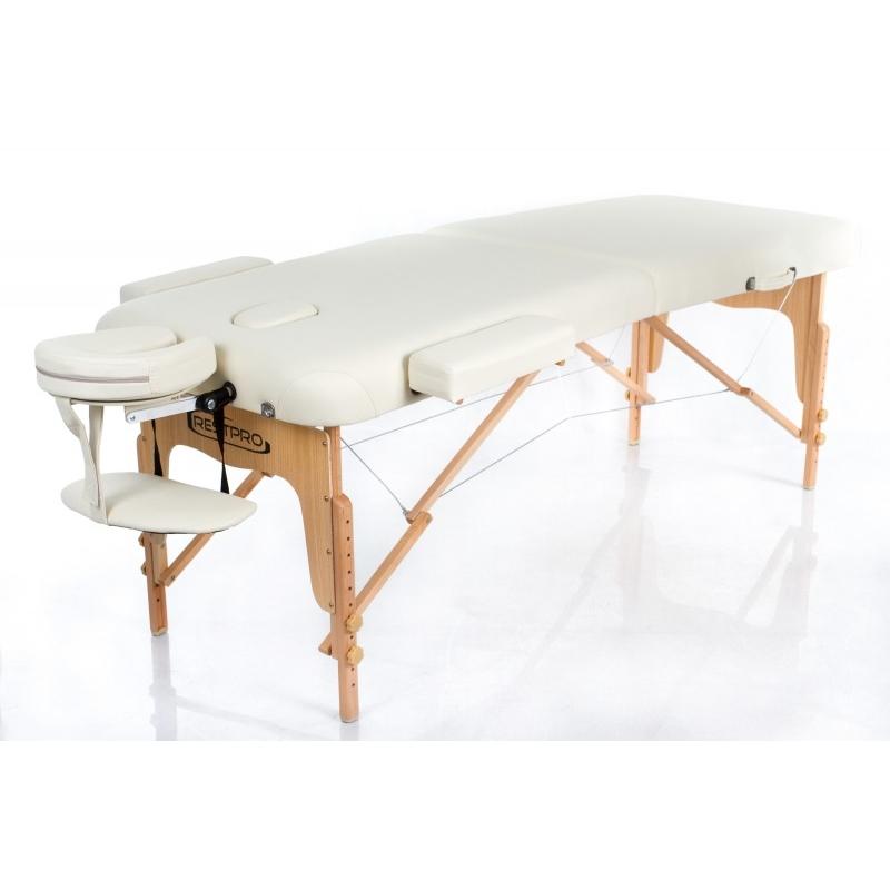 Sulankstomas masažo stalas Restpro Vip 2/Cream