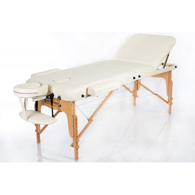 Sulankstomas masažo stalas Vip 3 (Cream)