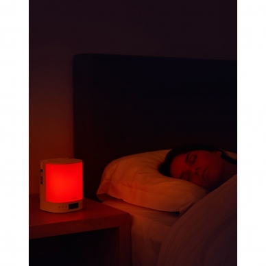 Šviesos žadintuvas su eterinių aliejaus garintuvu ir radija Lanaform Wake Up Scents 3in1 3