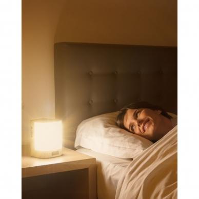 Šviesos žadintuvas su eterinių aliejaus garintuvu ir radija Lanaform Wake Up Scents 3in1 5