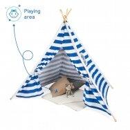 Детская палатка в стиле типи в синюю полоску