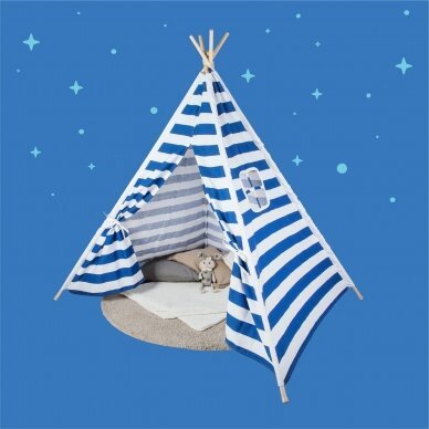 Tipi stila telts ar sloksnēm 6