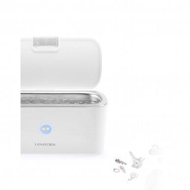 Ultragarsinė vonelė Lanaform Ultrasonic Cleaner 400ml, 30W 8