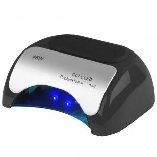UV/LED/CCFL nagų lempa 48W PROFESSIONAL SENSOR BLACK