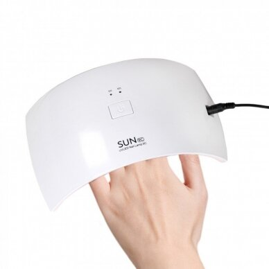 UV/LED nagų lempa 24W (M) 3