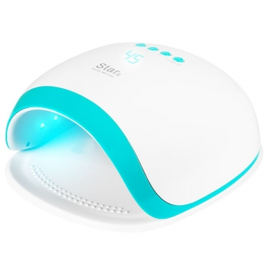 UV/LED nagų lempa 54W WHITE BLUE