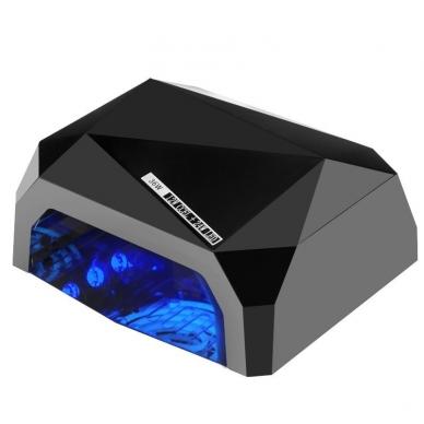 UV/LED/CCFL nagų lempa 36W DIAMOND SENSOR BLACK