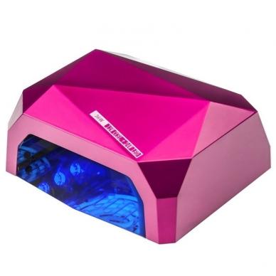 UV/LED/CCFL manikīra lampa 36W DIAMOND SENSOR DARK PINK