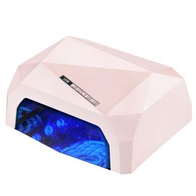 UV/LED/CCFL nagų lempa 36W DIAMOND SENSOR PINK