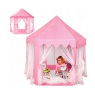 Bērnu telts ar aizkariem DREAM HOME, rozā