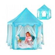 Bērnu telts ar aizkariem DREAM HOME, zila