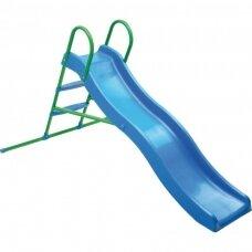 Vaikiška čiuožykla su metaliniais laipteliais ir vandens funkcija