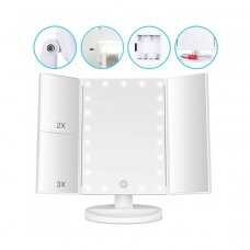Suurendav peegel LED valgusega (X1/X2/X3) TRIPLE