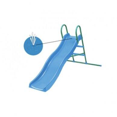 Viļņveida slidkalniņš ar metāla kāpnēm ar ūdens funkciju 2