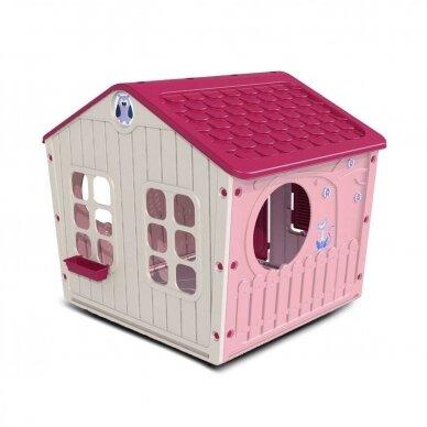 Vaikiškas žaidimų namelis GARDEN PINK 3