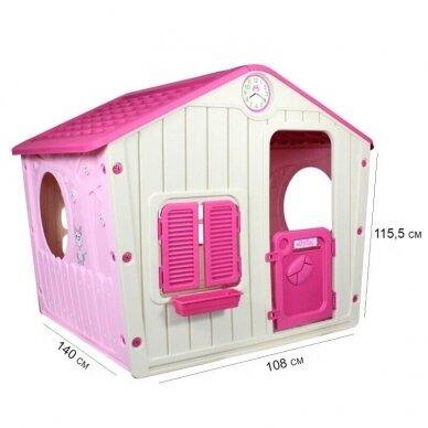 Vaikiškas žaidimų namelis GARDEN PINK 5