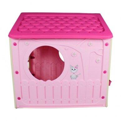 Vaikiškas žaidimų namelis GARDEN PINK 4
