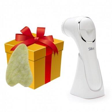 Veido valymo aparatas Silk'n Fresh + Nefrito akmens masažuoklis