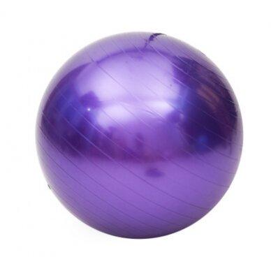 Vingrošanas bumba ar sūkni 75cm, violets 2