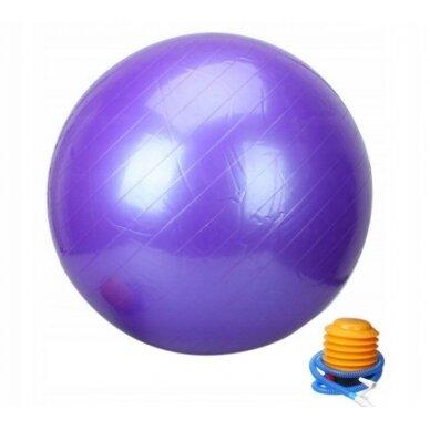 Vingrošanas bumba ar sūkni 75cm, violets