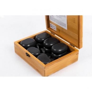 Vulkaninio bazalto masažo akmenų komplektas (22 akmenų) 2
