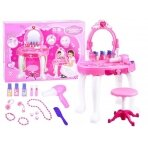 Rozā rotaļlietu tualetes galds ar aksesuāriem BEAUTY SALON