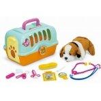 Rotaļu suņu būris ar veterinārajiem piederumiem LITTLE DOCTOR