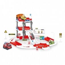 Ehitusautode mänguasjakomplekt ja parkla