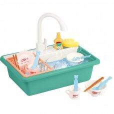 Žaislinis virtuvės kriauklės rinkinys BABY KITCHEN SINK (1)