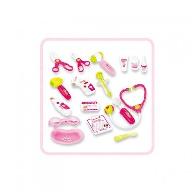 Žaislinis daktaro rinkinukas, rožinis 2