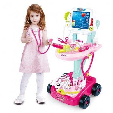 Doktora komplekts bērniem, rozā 3