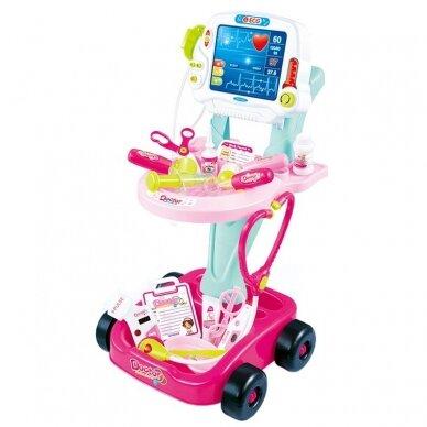 Žaislinis daktaro rinkinukas, rožinis