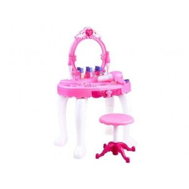 Roosa mänguasja tualettlaud aksessuaaridega tüdrukutele BEAUTY SALON 2