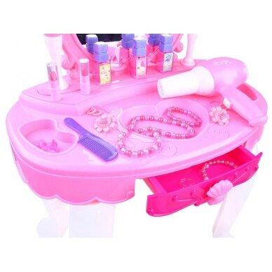 Žaislinis kosmetinis staliukas su priedais BEAUTY SALON 3