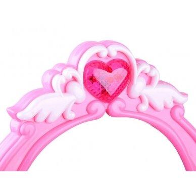 Roosa mänguasja tualettlaud aksessuaaridega tüdrukutele BEAUTY SALON 6