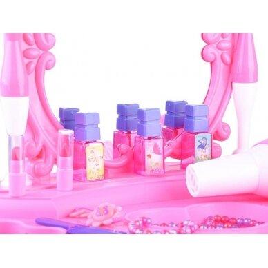 Roosa mänguasja tualettlaud aksessuaaridega tüdrukutele BEAUTY SALON 8