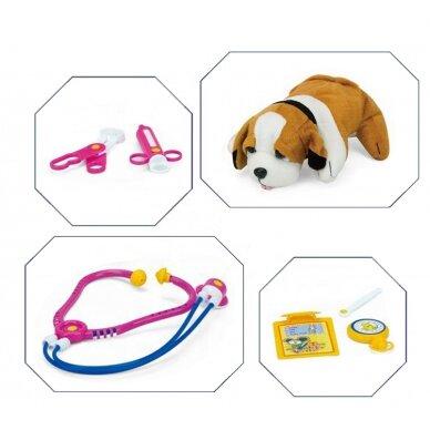 Rotaļu suņu būris ar veterinārajiem piederumiem LITTLE DOCTOR 2