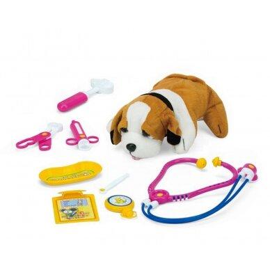 Rotaļu suņu būris ar veterinārajiem piederumiem LITTLE DOCTOR 4