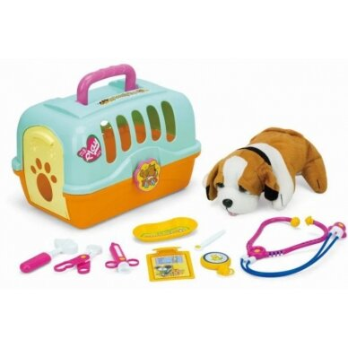 Rotaļu suņu būris ar veterinārajiem piederumiem LITTLE DOCTOR (1)