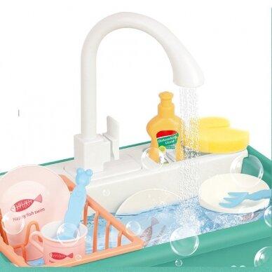 Žaislinis virtuvės kriauklės rinkinys BABY KITCHEN SINK (1) 2
