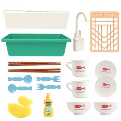 Žaislinis virtuvės kriauklės rinkinys BABY KITCHEN SINK (1) 3