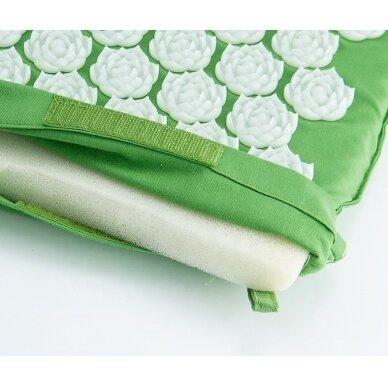 Akupresūros masažinis kilimėlis, 40x60cm GREEN 2