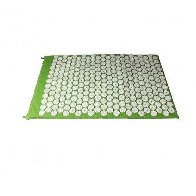 Akupresūras masāžas paklājs, 40x60cm GREEN